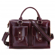 Gendi Real Leather Laptop Satchel Briefcase Shoulder Handbags for Men