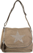 styleBREAKER Women's Cross-Body Bag Brown khaki One Size