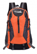 Yan Show Men's Canvas Backpack School Bags Men Backpack /Orange