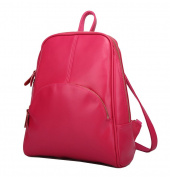Yan Show Women's Retro College Wind Shoulder Bags Backpack Handbags /Rose Red