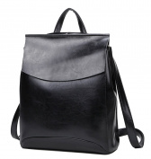 Yan Show Women's Leather Shoulder Bags Backpack Handbags /Black