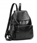 Yan Show Women's Leather Shoulder Bags Backpack /Black