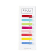 Ribbies - Non-Slip (Pack of 8 - Assorted Bright Colours