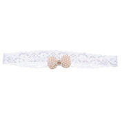 Baby Princess Lace Rhinestone Hairband Newborn Headband Little Girl Baptism Hair Band Accessories