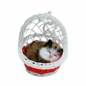 Drasawee Super Cute Kids Stuffed Simulation Animal Doll Hanging Basket Cat Toy With Sound 3#