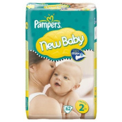 Pampers Nappies Size 2 New Baby Mini's 62's Economy Pack by Pampers
