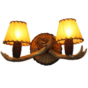 American Village Antlers Cafe Echinacea Living Room Bedroom Inn Clubhouse Hot Pot Restaurant Bedside Ideas Wall Lamp