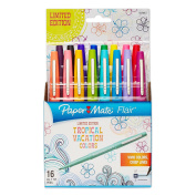 Paper Mate Flair Porous-Point Felt Tip Pen, Medium Tip, Limited Edition Tropical Vacation Colours, 16-Count