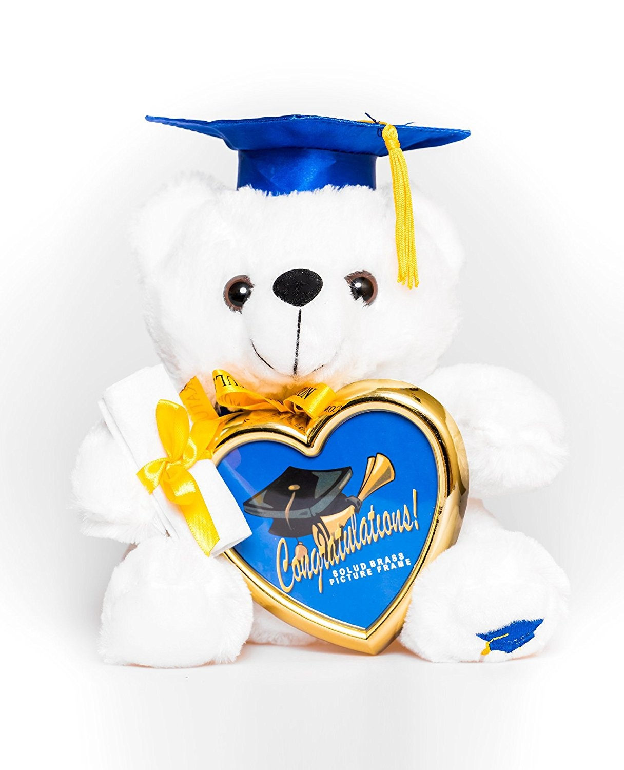 (bluee Cap) - 20cm Graduation Gifts Plush Teddy Bear with Cap and Diploma in