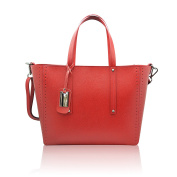 NOEMI Shopper Tote shoulder bag stiff grained genuine leather Made in Italy