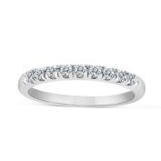 1/5ctw Diamond Wedding Band in 10k White Gold