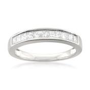 14k White Gold Princess-cut 11-Stone Diamond Bridal Wedding Band Ring
