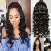 Fureya Hair 8A Unprocessed Peruvian Vogue Free Part Loose Deep Glueless Human Hair Lace Wigs for Black Women 180% Density Lace Front Wigs with Baby Hair