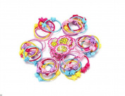 50PCS Assorted Colour High Elastic Baby Kids Children Girl Hair Ties Bands Hair Rope Ponytail Holders Headband Scrunchie Hair Accessories No Slipping Snagging Breaking or Stretching Out