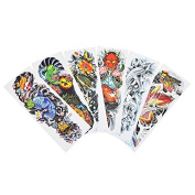 6 Pieces Big Large Temporary Full Arm Leg Body Art Tattoo Sticker Fish Design Water Transfer