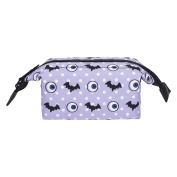 Fringoo® Women's Girls Boxy Make Up Bag Small Cosmetics Pouch Graphic Printed Cute Funny Wash Bag Make Up Organiser