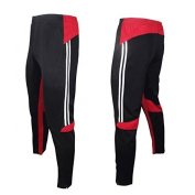 COOLOMG Men's Athletic Tracksuit Jogger Bottoms Sports Pants with Zip Pocket Mesh Breathable Elastic Band Casual Skinny Running Workout Training