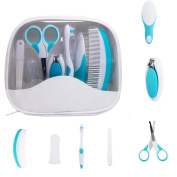 Moonbuy Baby Grooming Healthcare Kit - 7 Pieces Nursery Newborn Care Set for Infants with Carry Bag