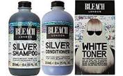 (3 PACK) Bleach London Silver Shampoo x 250ml & Bleach London Silver Conditioner x 250ml & Bleach London White Toner Kit