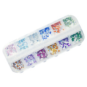 NAILFUN 1200 Round Rhinestones - 12 Different Colours