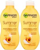 SIX PACKS of Garnier Summer Body Lotion Light Sun-Kissed 250ml