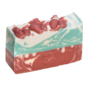 Red Rose Goat Milk Soap Bar - Organic Herbal Bar With Therapeutic Essential Oils. Moisturising Body Soap For Skin And Face. With Goat Milk, Shea Butter And Glycerin 120ml Soap Bar