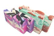 Milk Soap Bar Set (4 Guest Bars)-All Soaps With Goat Milk. 2 Lemongrass & Sage And 2 Rose Soap Bars. Set Of 4 - 60ml Bar