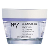 Boots No7 Beautiful Skin DAY Cream for DRY/VERY DRY Skin With SPF 15+5*UVA 50ml