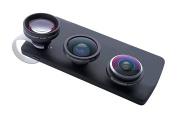 Bresser 5x Magnification Clip-On Set Super Fisheye Tele Lens for Smartphone - Black