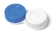 Standard Screw Top Contact Lens Soaking Storage Case With L and R Caps