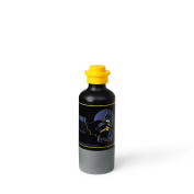 LEGO Batman Drinking Bottle with Cup, Water Bottle, 350 ml, Black