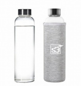 550 ml Sports bottle Water Glass BPA free portable Environmentally eco friendly opener with nylon bag Drinking for car BPA-Free Portable Sports Bottle, Leak-proof Stainless Steel Cap with Nylon Sleeve Drinking Bottle Nr 500ML from slkfactory