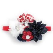 My Lello Girls Shabby Fabric Flower Cluster Headband