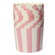 SKY-II 50X Cupcake Wrapper Paper Cake Case Baking Cups Liner Muffin Kitchen Baking,Pink Striped