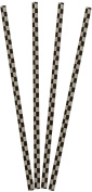 Racing Car Chequered Straws