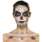 Sugar Skull Makeup Set Dia de los Muertos make-up kit multiple parts multicolour Calavera tattoos Day of the dead beauty utensils Mexican death mask Candy Skull Make Up Halloween