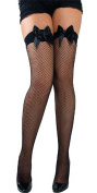 Supply EU Black Fishnet Thigh Highs With Black Bow - Adult Accessory