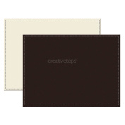 Creative Tops Reversible Brown And Cream Faux Leather Placemats, Brown & Cream