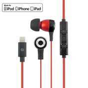 Uunique Regent Earphones with Lightning Connector Red/Black