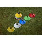 Mitre 50 x Conical Multi coloured space markers agility training cones indoor