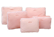 Set of 5 Travel Luggage Organiser Packing Pouch Assorted Size