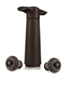 Vacu Vin Wine Saver with 2 Stoppers, Brown