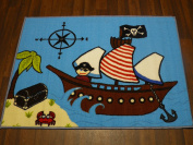 Non Slip Kids Pirate Playmat / Rug 80cm x 110cm