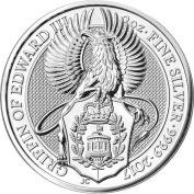 2017 UK Queen's Beasts The Gryphon 60ml Silver Coin .999 Fine from the Royal Mint
