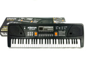 TriEcoWorld Education Toy Children Kids Black 61 Keys Digital Music Electronic Karaoke Keyboard Piano Organ Gift with Microphone Mic UK 3-Pin Plug