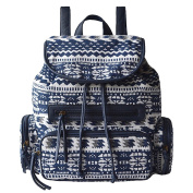 Yiuswoy Canvas Backpack Printing Pattern Rucksack Laptop Bag College Bookbag School Bags for Women Teenager Girls - Blue