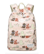 EchoFun Print Cute Cat School Canvas Backpack Book Padded Bags Students Rucksacks