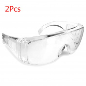 Yalulu 2Pcs Kids Children's Clear Thickening Outdoor Game Protective Goggles Safety Glasses Eyewear for Nerf N-Strike Elite Gun Toy Gun Game Eye Protection