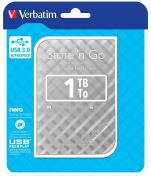 Verbatim 53193 1TB Portable USB 3.0 Hard Drive - Silver