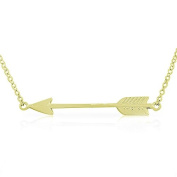 925 Sterling Silver Classic Love Arrow Horizontal Womens Pendant Necklace